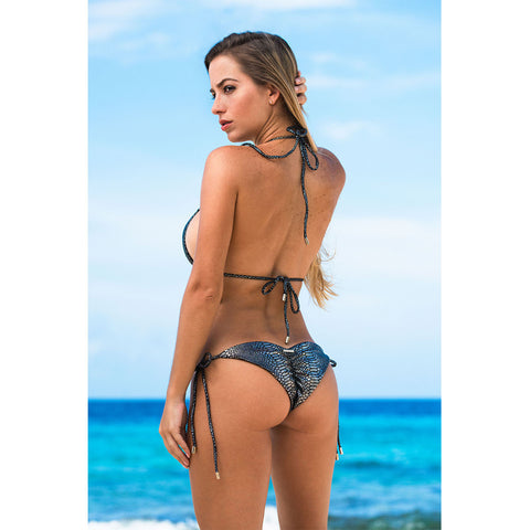 Thalassa Boom Resort Wear, Snake Silver One Piece Monokini Swimsuit, Designer swimwear