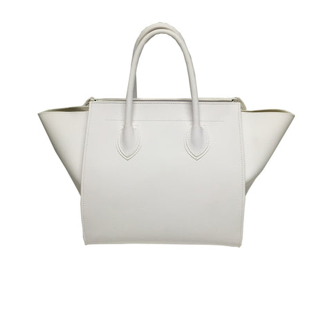 Handbags, Bag with Fringes & Studs in White, Thalassa Boom Resort Wear, Designer Resort Wear