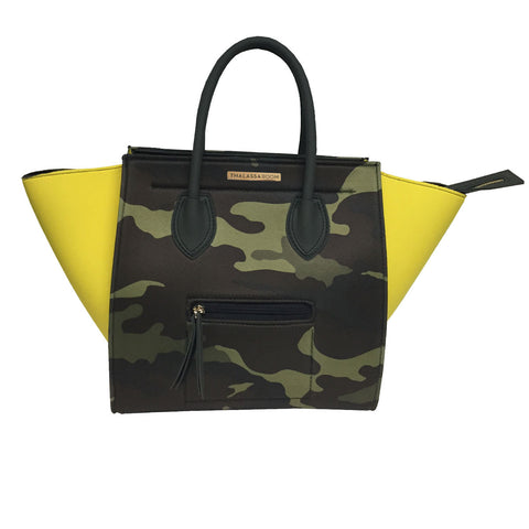 Bag in Yellow & Camouflage Print