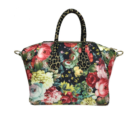 Bag in Cheetah & Flower Print -  Thalassa Boom
