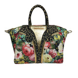 Handbags, Bag in Cheetah & Flower Print, Thalassa Boom Resort Wear