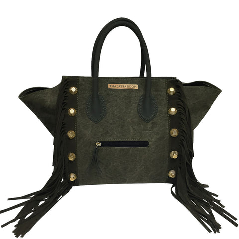 Bag Military with Fringes & Studs