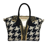 Handbags, Bag in Cheetah & Pied Poule Print, Thalassa Boom Resort Wear