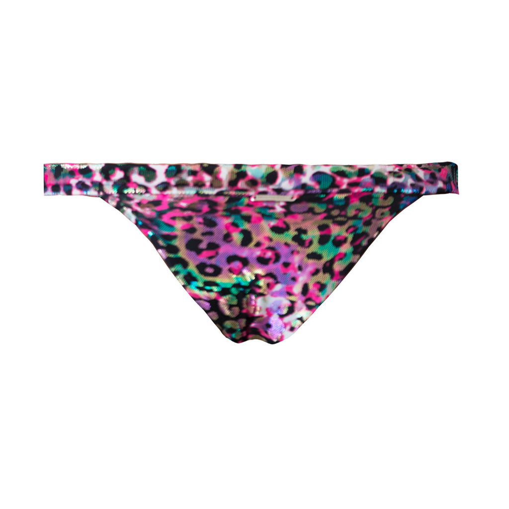 Thalassa Boom Resort Wear, Animal Pink Cheeky Bikini Bottom, Designer swimwear