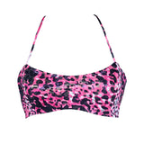 Thalassa Boom Resort Wear, Animal Pink Bralette Bikini Top, Designer swimwear