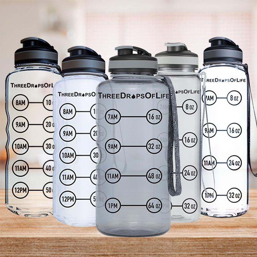 Three Drops Of Life Double Wall BoroSilicate Glass Water Bottle