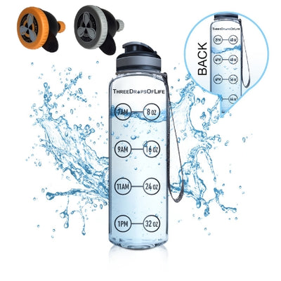Sports Water Bottle and Protein Funnels