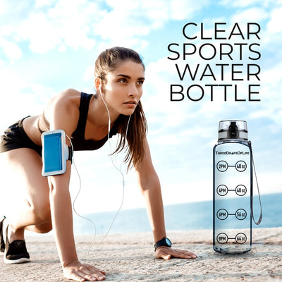 32oz Clear Water Bottle