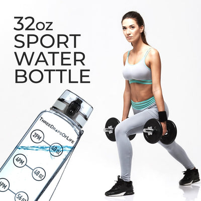 Time Tracker Water Bottle