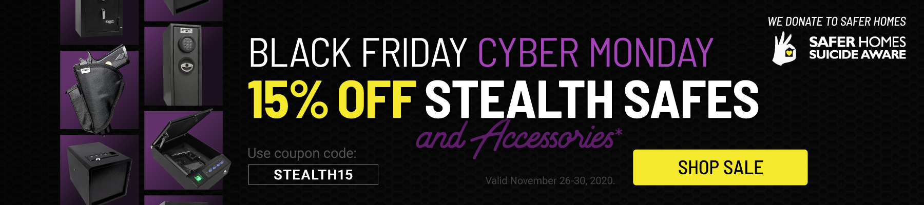 Stealth Black Friday Sale - 15% off Select Stealth Products