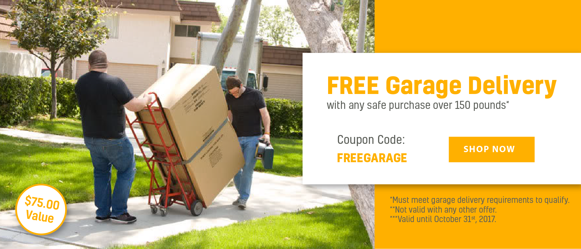 Free Garage Delivery