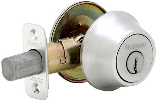 Kwikset 660 26D SCAL SCS K2 Single Cylinder Deadbolt Satin Chrome