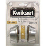 Kwikset 665 26D SCAL SCS K2 Double Cylinder Deadbolt Satin Chrome