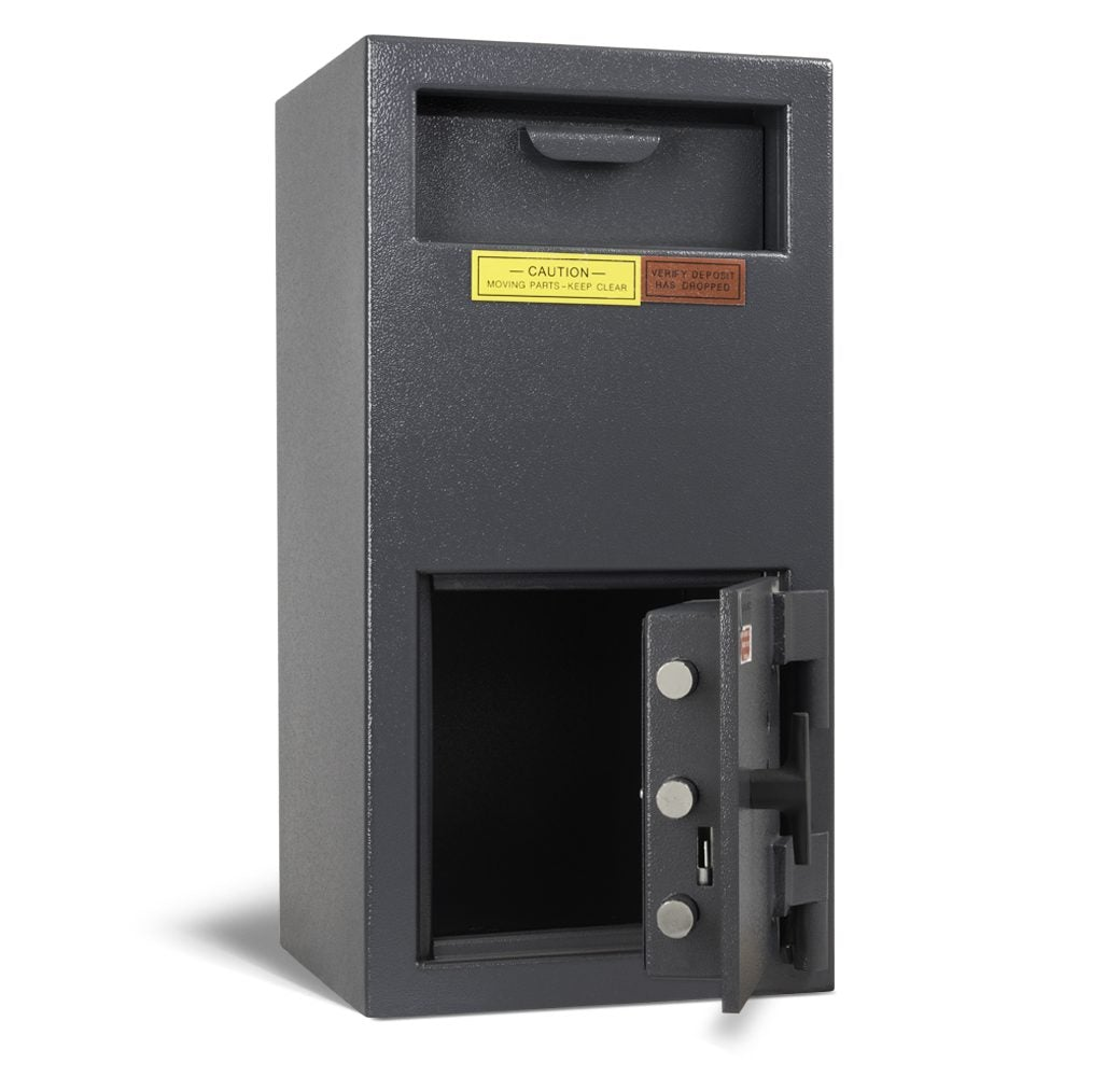 AMSEC DSF2714K Front Loading Deposit Safe Door Open