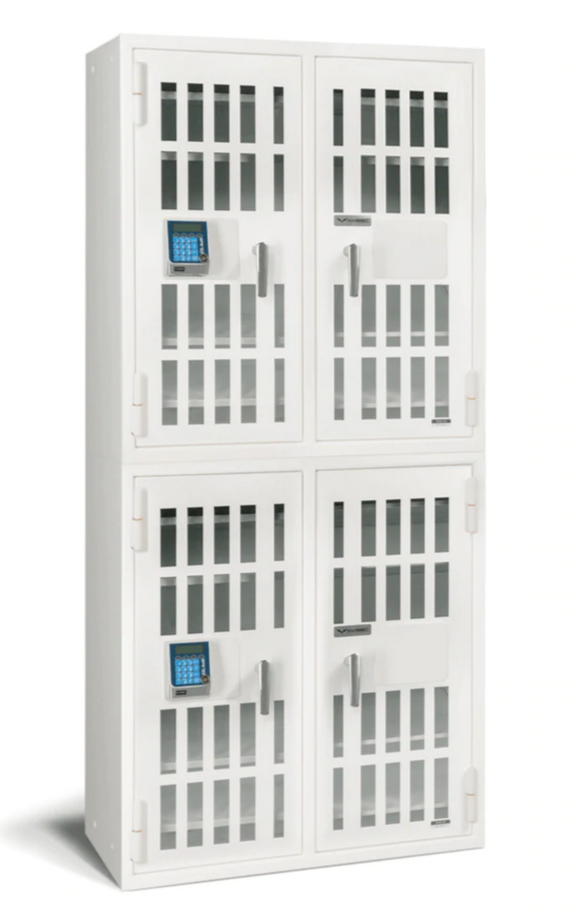 AMSEC NARCO8336 Four Door Narcotics Pharmacy Safe with 24 Shelves