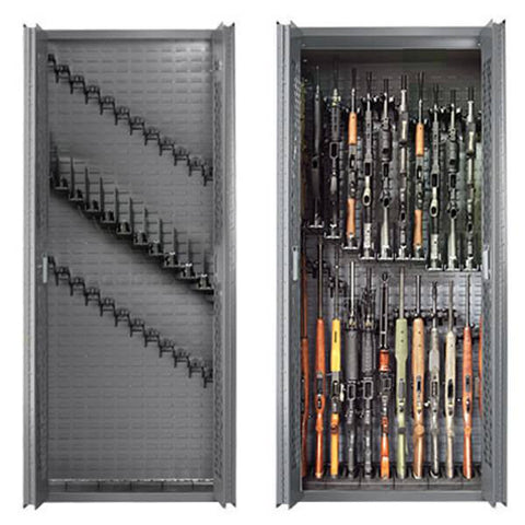 SecureIt Tactical SEC-300-24RS Model 84: 24/12 Locking Steel Gun Cabinet