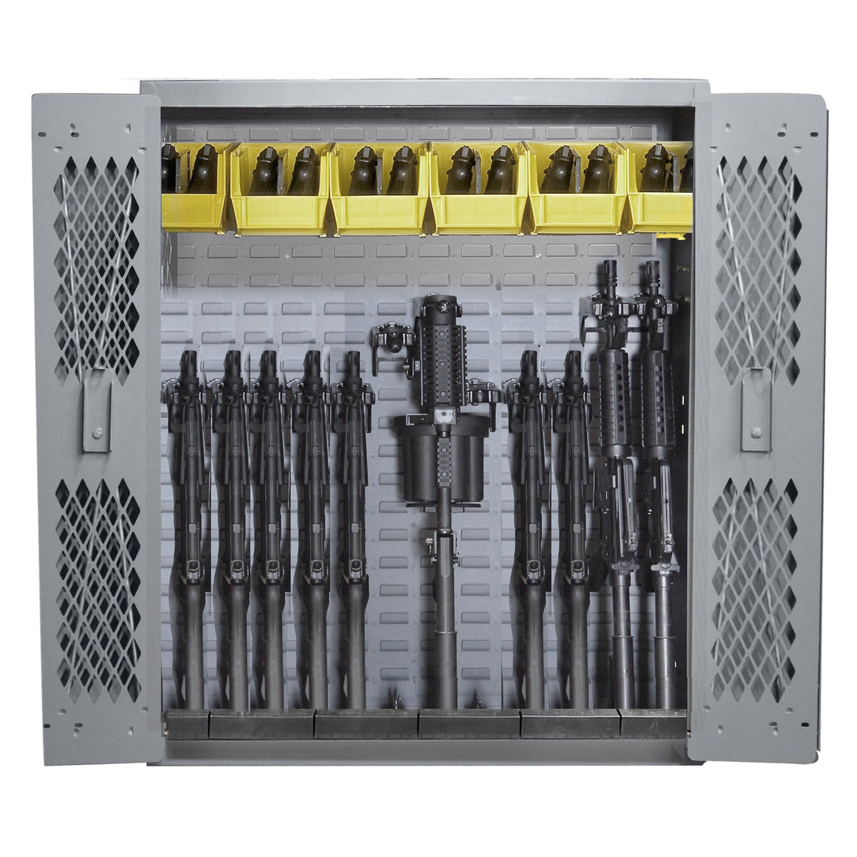 SecureIt Tactical SEC-100-12R Model 44: 12 Rifle Storage Cabinet