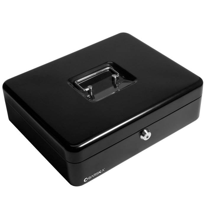 Barska CB11790 Key Lock Cash Box With Coin Tray