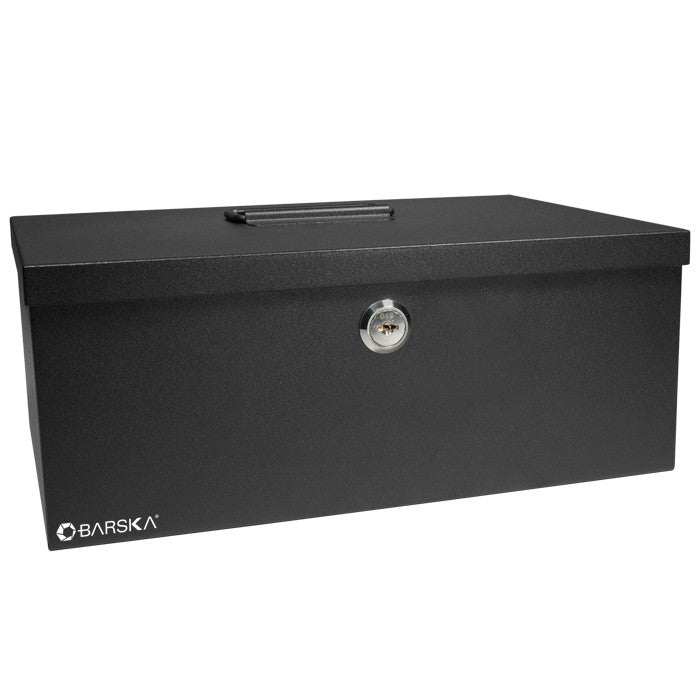 "Barska CB11792 17"" Key Lock Cash Box"