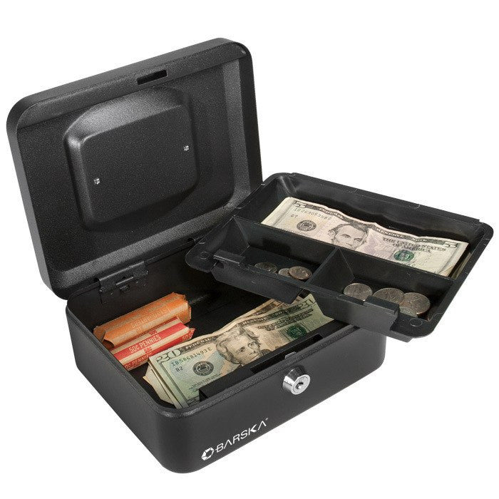 "Barska CB11832 10"" Cash Box with Key Lock"