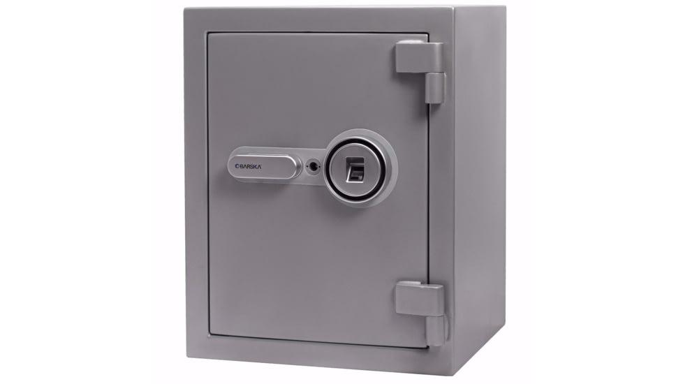 Biometric & Fingerprint Safes - Barska AX13494 1.64 Cu. Ft. Biometric Fireproof Safe Gray