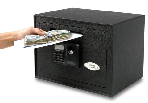 Biometric & Fingerprint Safes - Viking VS-25DBLX Small Depository Biometric Safe