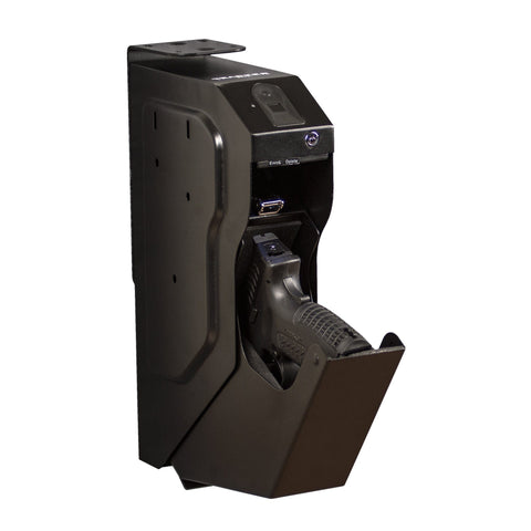 Biometric Handgun Safes - Tracker DDPS-01B Drop Down Pistol Safe With Biometric Lock