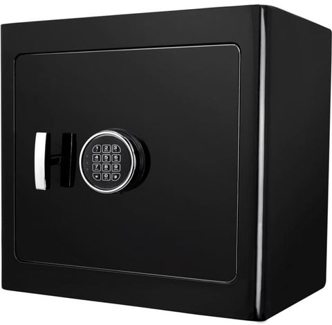 Burglar Fire Safe Products - Barska AX13106 Black Keypad Jewelry Safe, Black Interior