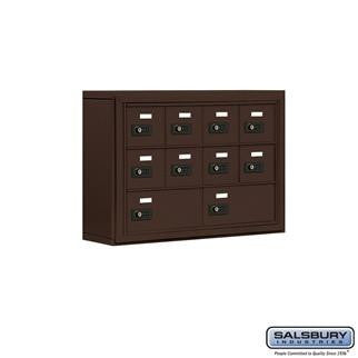 Cell Phone Lockers - Salsbury Cell Phone Storage Locker - 3 Door High Unit (5 Inch Deep Compartments) - 8 A Doors And 2 B Doors - Surface Mounted