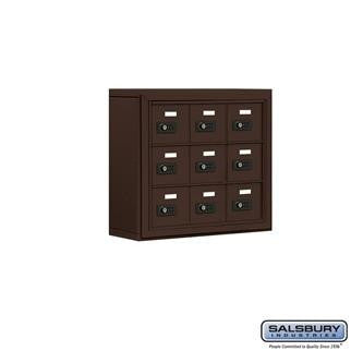 Cell Phone Lockers - Salsbury Cell Phone Storage Locker - 3 Door High Unit (5 Inch Deep Compartments) - 9 A Doors - Surface Mounted