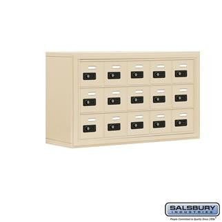 Cell Phone Lockers - Salsbury Cell Phone Storage Locker - 3 Door High Unit (8 Inch Deep Compartments) - 15 A Doors - Surface Mounted