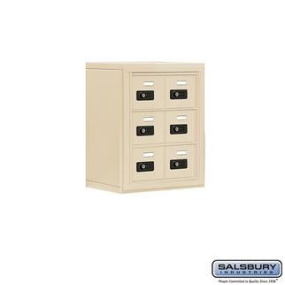 Cell Phone Lockers - Salsbury Cell Phone Storage Locker - 3 Door High Unit (8 Inch Deep Compartments) - 6 A Doors -Surface Mounted