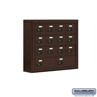 Cell Phone Lockers - Salsbury Cell Phone Storage Locker - 4 Door High Unit (5 Inch Deep Compartments) - 12 A Doors And 2 B Doors - Surface Mounted