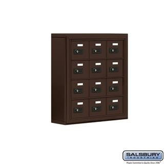 Cell Phone Lockers - Salsbury Cell Phone Storage Locker - 4 Door High Unit (5 Inch Deep Compartments) - 12 A Doors - Surface Mounted