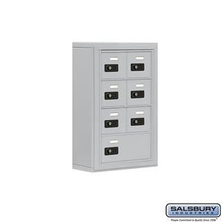 Cell Phone Lockers - Salsbury Cell Phone Storage Locker - 4 Door High Unit (5 Inch Deep Compartments) - 6 A Doors And 1 B Door - Surface Mounted