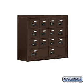 Cell Phone Lockers - Salsbury Cell Phone Storage Locker - 4 Door High Unit (8 Inch Deep Compartments) - 12 A Doors And 2 B Doors - Surface Mounted
