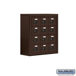 Cell Phone Lockers - Salsbury Cell Phone Storage Locker - 4 Door High Unit (8 Inch Deep Compartments) - 12 A Doors - Surface Mounted