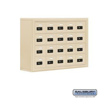 Cell Phone Lockers - Salsbury Cell Phone Storage Locker - 4 Door High Unit (8 Inch Deep Compartments) - 20 A Doors - Surface Mounted