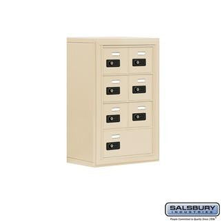 Cell Phone Lockers - Salsbury Cell Phone Storage Locker - 4 Door High Unit (8 Inch Deep Compartments) - 6 A Doors And 1 B Door - Surface Mounted