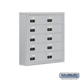 Cell Phone Lockers - Salsbury Cell Phone Storage Locker - 5 Door High Unit (5 Inch Deep Compartments) - 10 B Doors - Surface Mounted