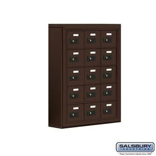 Cell Phone Lockers - Salsbury Cell Phone Storage Locker - 5 Door High Unit (5 Inch Deep Compartments) - 15 A Doors - Surface Mounted