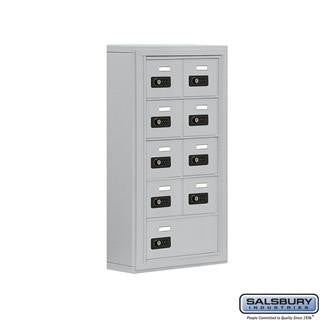 Cell Phone Lockers - Salsbury Cell Phone Storage Locker - 5 Door High Unit (5 Inch Deep Compartments) - 8 A Doors And 1 B Door - Surface Mounted
