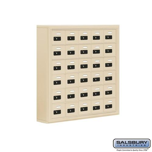 "Cell Phone Lockers - Salsbury Cell Phone Storage Locker - 6 Door High Unit - 5"" Deep Compartments - 30 A Doors - Surface Mounted - Resettable Combination Locks"