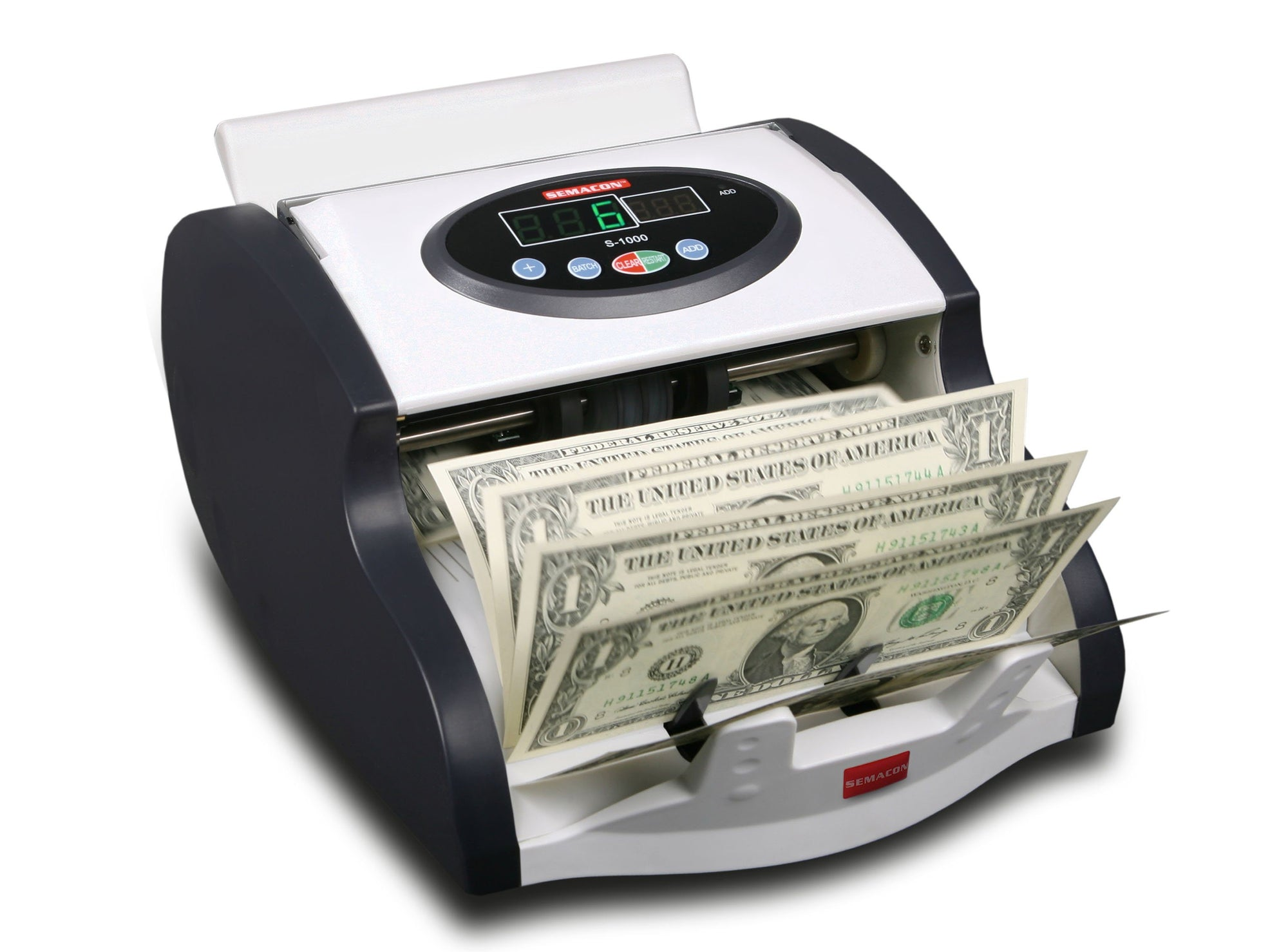 Coin And Currency Counters - Semacon S-1000 Mini Table Top Compact Currency Counter