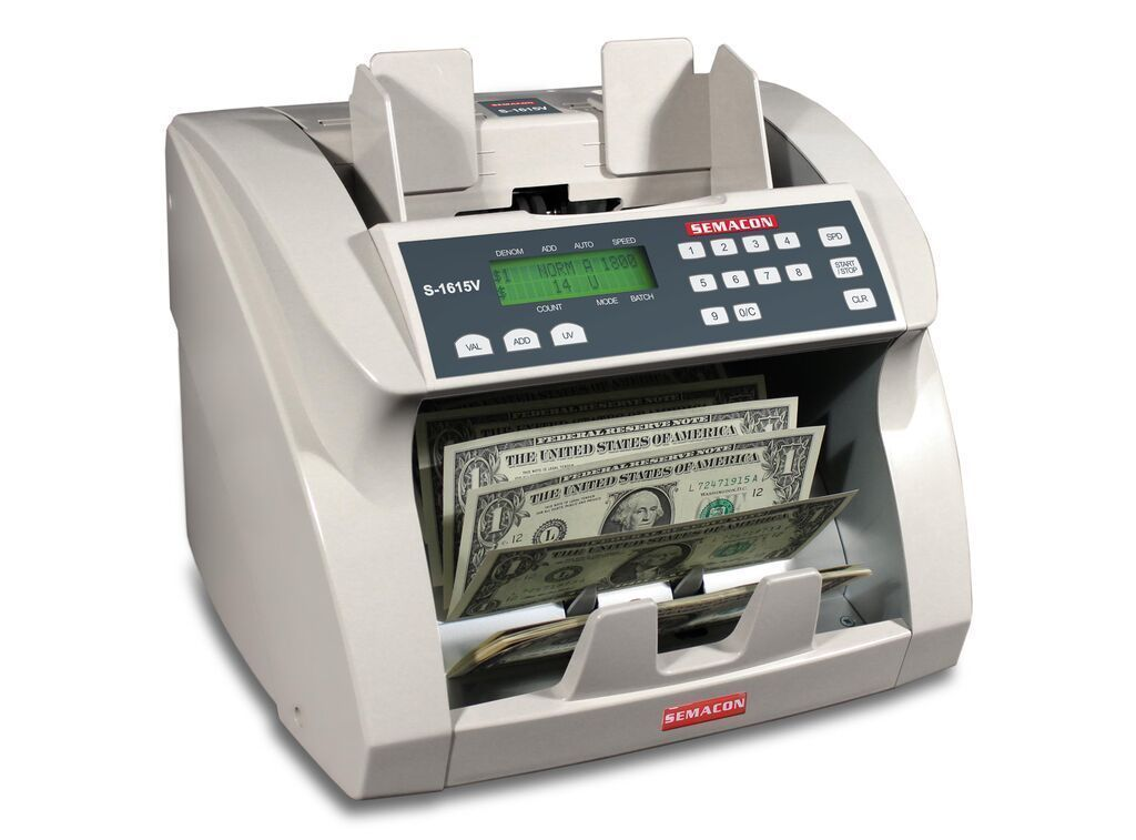 Coin And Currency Counters - Semacon S-1615V Bank Grade Currency Value Counter (UV CF)