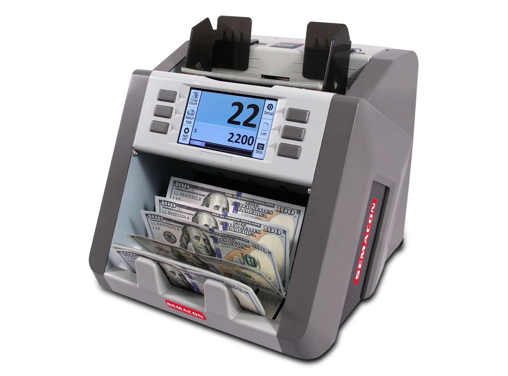 Coin And Currency Counters - Semacon S-2200 Bank Grade Single Pocket Currency Discriminator S2200