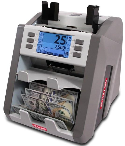 Coin And Currency Counters - Semacon S-2500 Two Pocket Currency Discriminator S2500