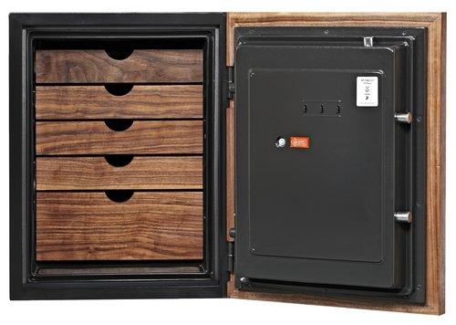 Data Media Safes - Phoenix DBAUM 700 Luxury Safe W/ Genuine Walnut Exterior Door Front