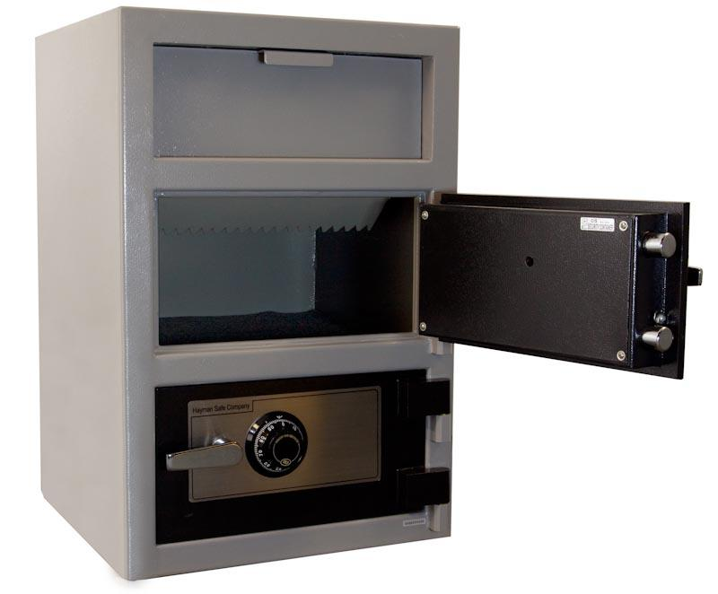 Double Door Depository Safe - Hayman CV-F30W-2-KC Wide Body Double Door Depository Safe