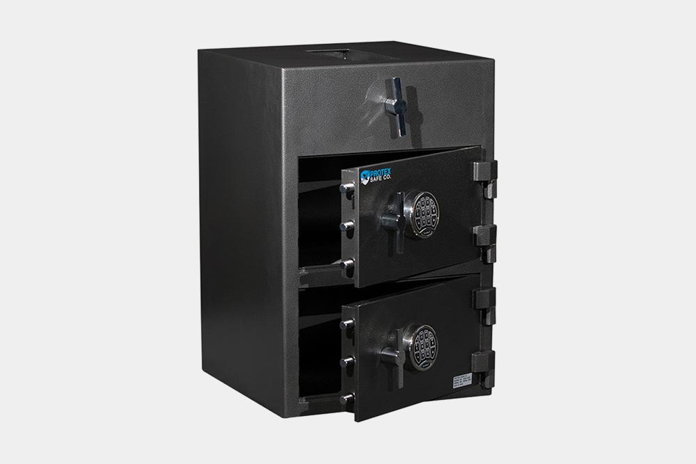 Double Door Depository Safe - Protex RDD-3020 II Double Door Rotary Depository Safe